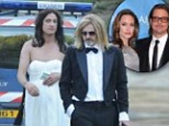 police are called as pranksters dressed up as brad pitt and angelina stage a wedding... at the couple's miraval property