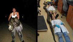19-foot python killed by hero armed with knife and brave woman helper [video]