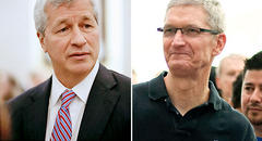 Market Minute: Scrutiny Awaits Heads of JPMorgan, Apple