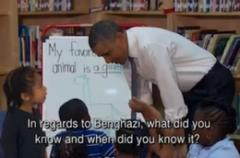 on leno, kids grill obama on benghazi, irs, ap scandals: 'are eric holder's days numbered?'