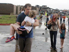 parents become rescuers at tornado-flattened school